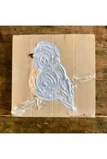 "Studio 1905 Art 6 x 6 ""Morning Light"" Blue Bird Painting"