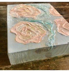 Studio 1905 Art 5 x 7 Pink Peony Painting on Wood