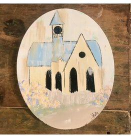 "Studio 1905 Art 10 x 8 ""Spring Prayers"" Oval Canvas Painting"