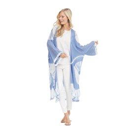 Mud Pie Athena Kimono Blue & White