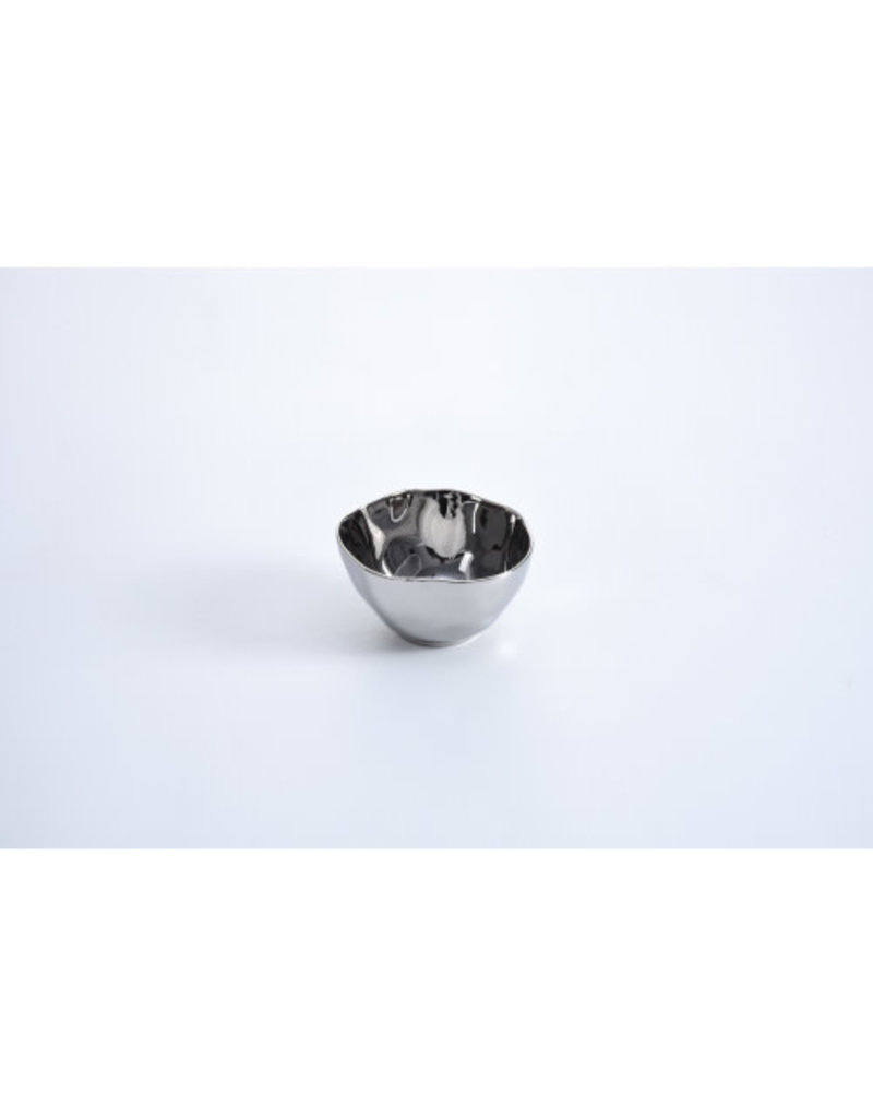 Pampa Bay Thin and Simple Silver Snack Bowl