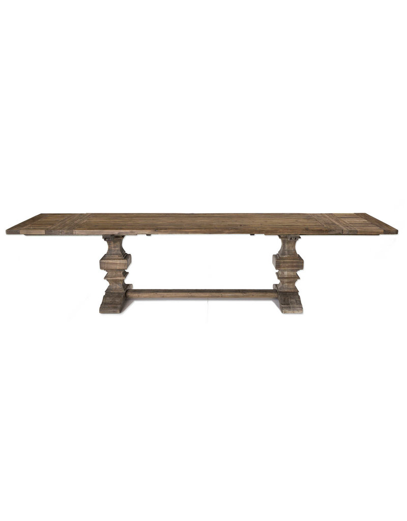 "Uttermost / Revelation Baldrick Extension Dining Table 132""T x 39""W x 30"" H"