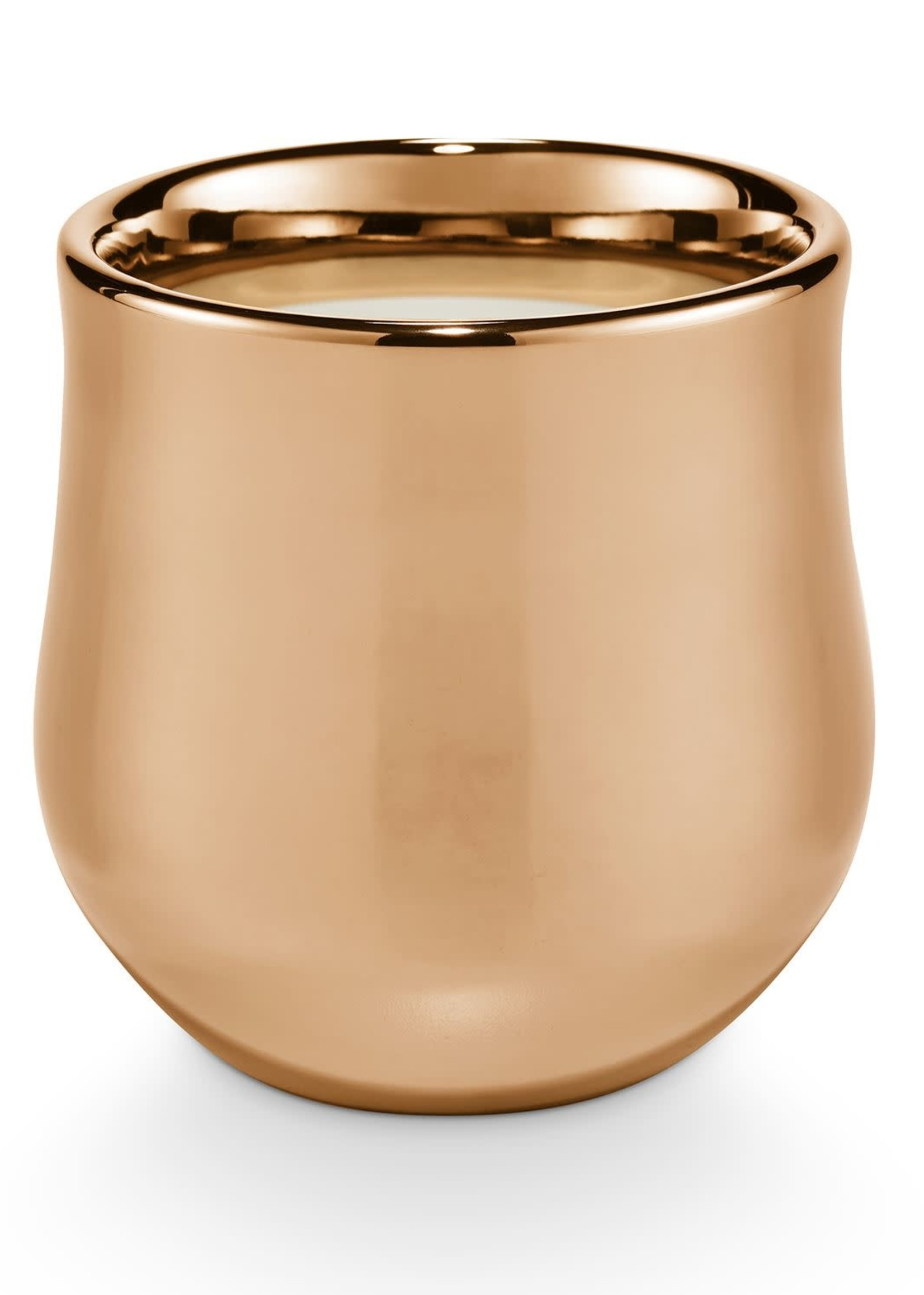 Illume Copper Leaves Gilded Ceramic Candle