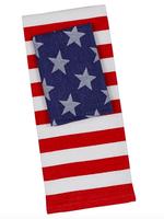 Design Imports Stars and Stripes Dishtowel and Dishcloth