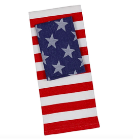 Design Imports Stars and Stripes Dishtowel and Dishcloth