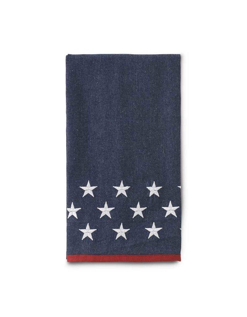K&K 27 Inch Americana Denim Blue Tea Towel