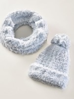 Charlie Page Polyester Knitted Scarf - Blue