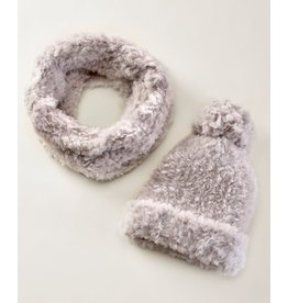 Charlie Page Polyester Knitted Scarf - Greige