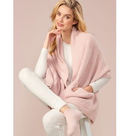 Charlie Page Knitted Scarf with Pockets - Pink