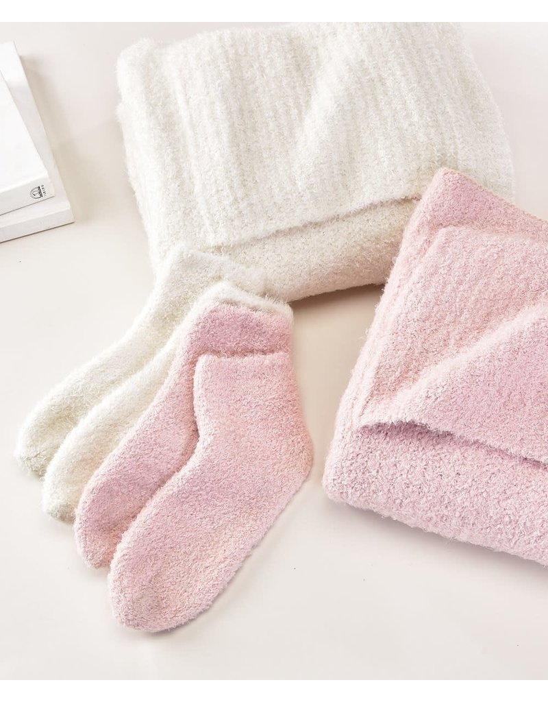 Charlie Page Knitted Socks - Pink