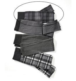 Charlie Page L/XL Black & Grey Plaid Fleece Lined Leggings