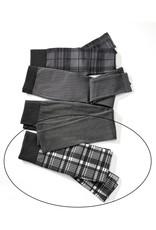 Charlie Page S/M Black & White Plaid Fleece Lined Leggings