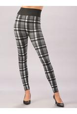 Charlie Page L/XL Black & White Plaid Fleece Lined Leggings