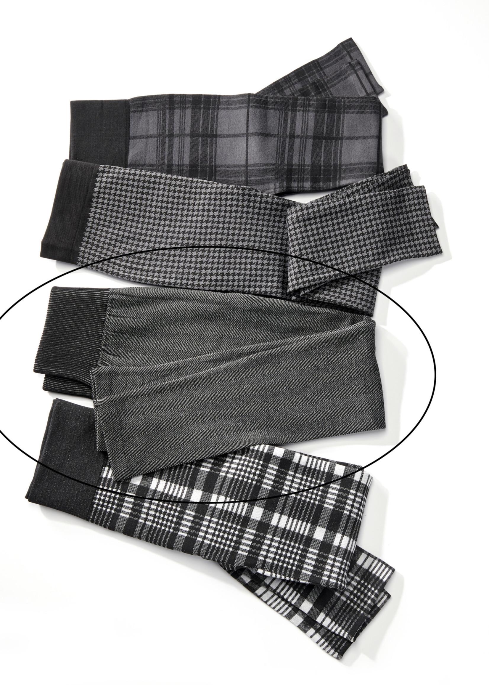 Charlie Page S/M Herringbone Plaid Fleece Lined Leggings