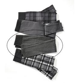 Charlie Page L/XL Herringbone Plaid Fleece Lined Leggings