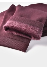Charlie Page S/M Signature Fleece Lined Leggings - Burgundy