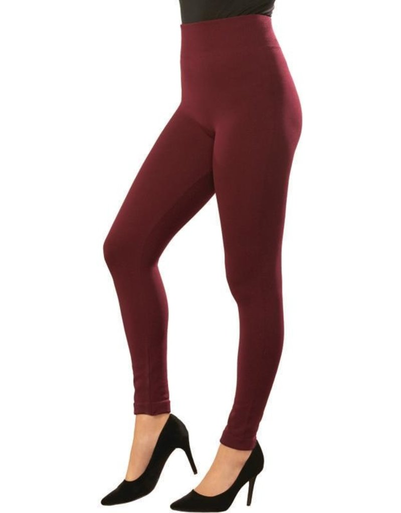 Charlie Page S/M Signature Fleece Lined Leggings - Brown