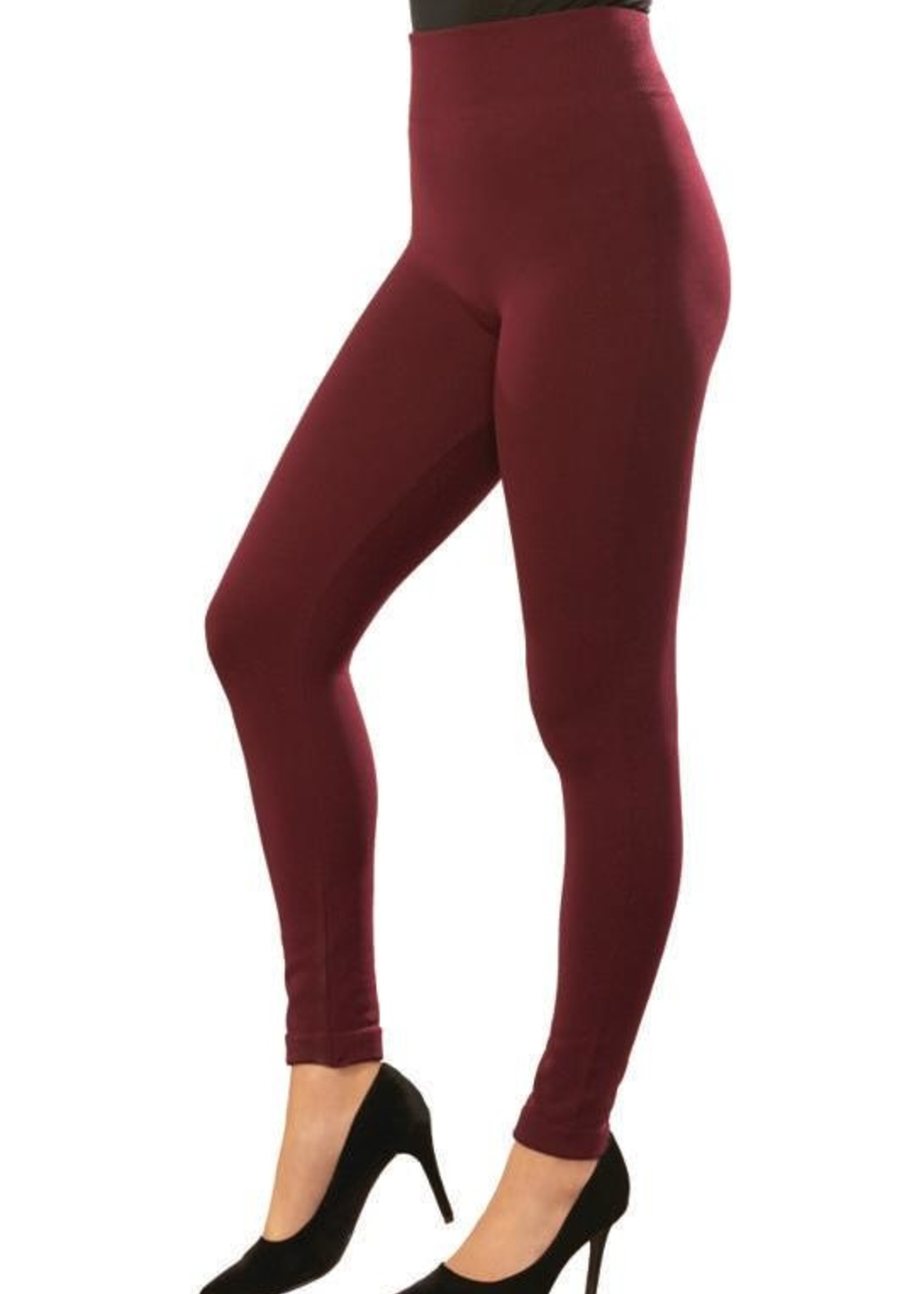 Charlie Page L/XL Signature Fleece Lined Leggings - Brown