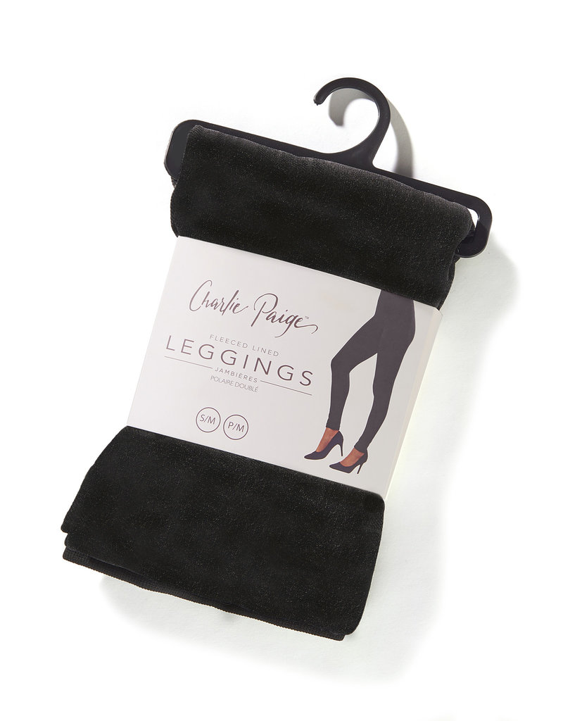 Charlie Page L/XL Black Fleece Lined Leggings
