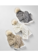 Charlie Page Cable Knit Gloves - Cream