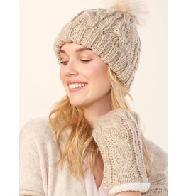 Charlie Page Cable Knit Hat - Beige