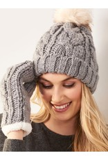 Charlie Page Cable Knit Hat - Grey