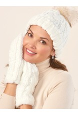 Charlie Page Cable Knit Hat - Cream