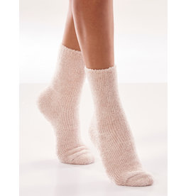Charlie Page Chenille Socks Box of 4 - 2 Pink 2 Cream
