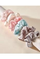 Charlie Page Silk Hair Scrunchie Dark Pink