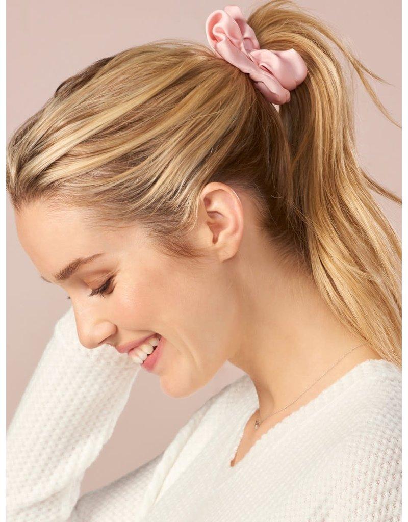 Charlie Page Silk Hair Scrunchie Light Grey