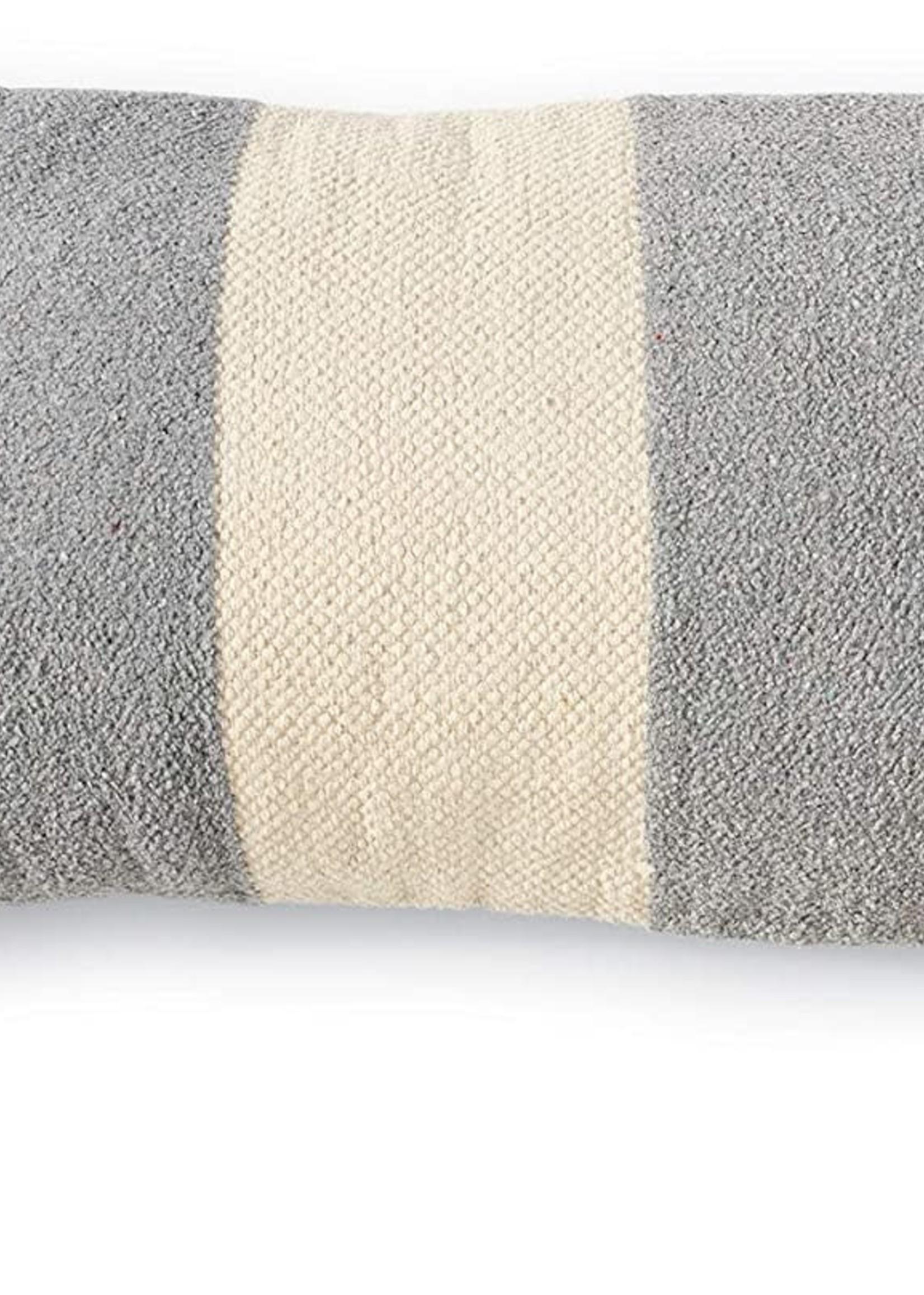 Mud Pie Blue Rectangle Stripe PIllow