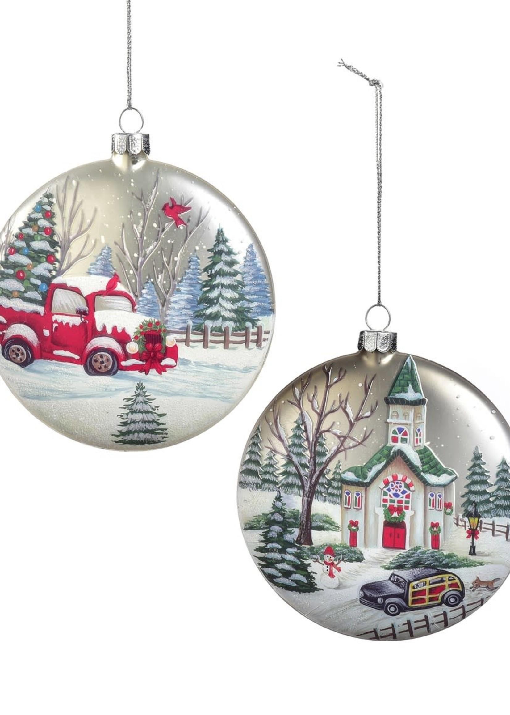 Giftcraft Truck Scene Disc Ornament