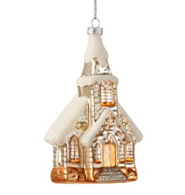 Giftcraft Glass Church Ornament