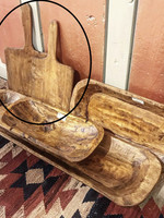 """CG & K Inc. 20"""" x 11.5"""" x 0.5"""" Brown Square Wood Cutting Board"""