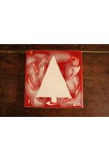 Kris Marks 6x6 White Tree on Red