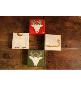 Kris Marks 4x4 White Sleigh with Gold Rudders