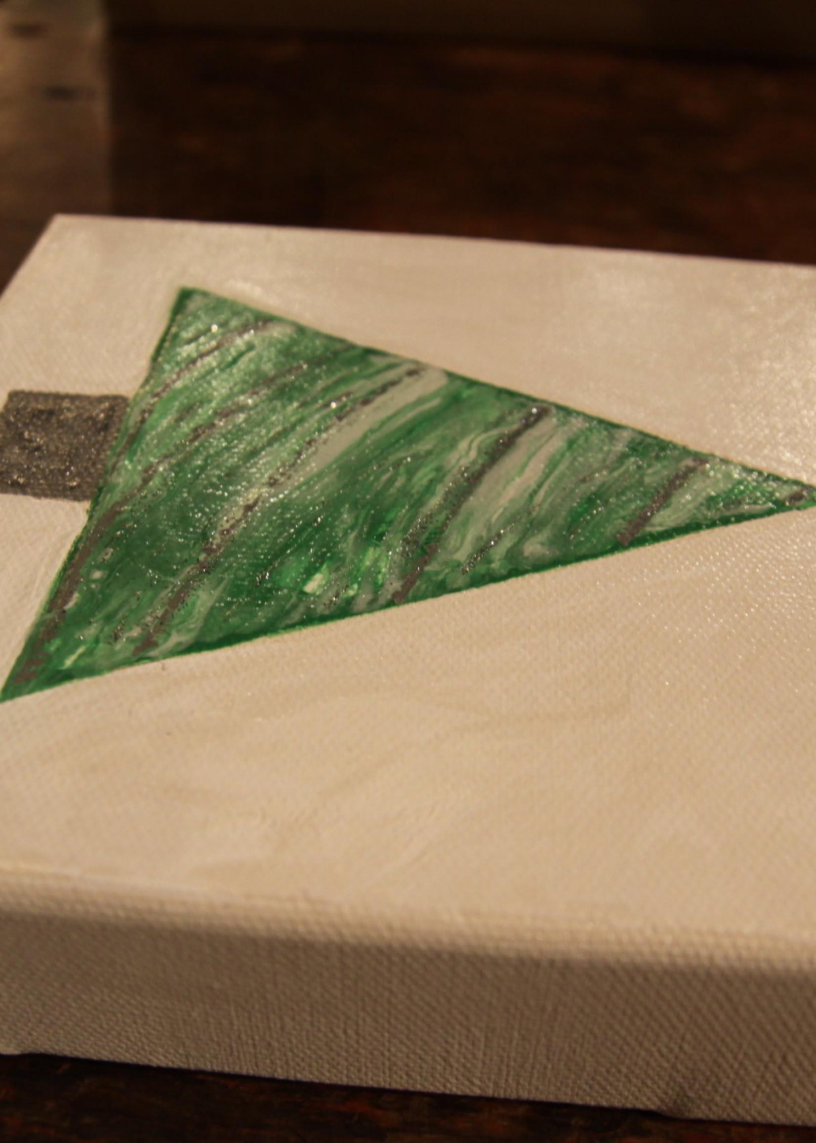 Kris Marks 6x6 Green and Gray Tree