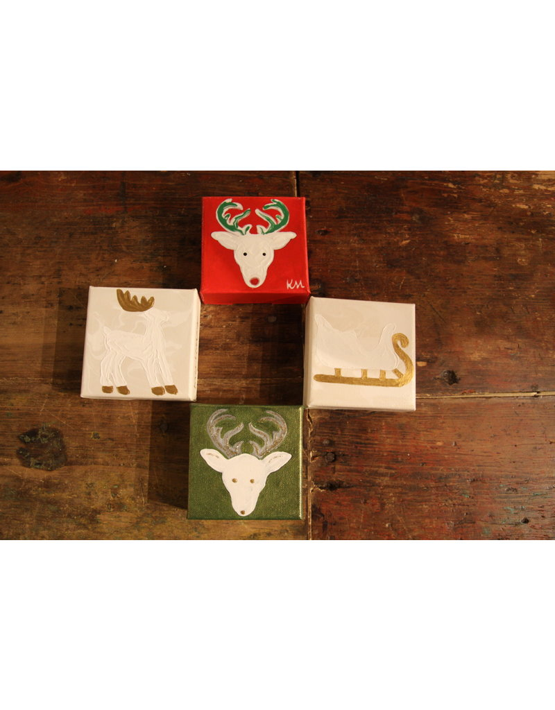 Kris Marks 4x4 Deer with Gold Antler and Hoofs