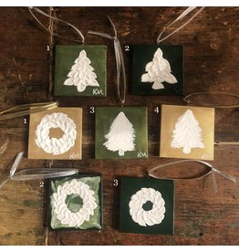Kris Marks Hand-painted Christmas Ornament 2 x 2