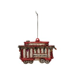 Creative Co-Op Glass Trolley Ornament