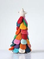 Creative Co-Op Felt Multi Colored Tree