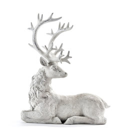 Giftcraft White Reindeer Figurine/Laying