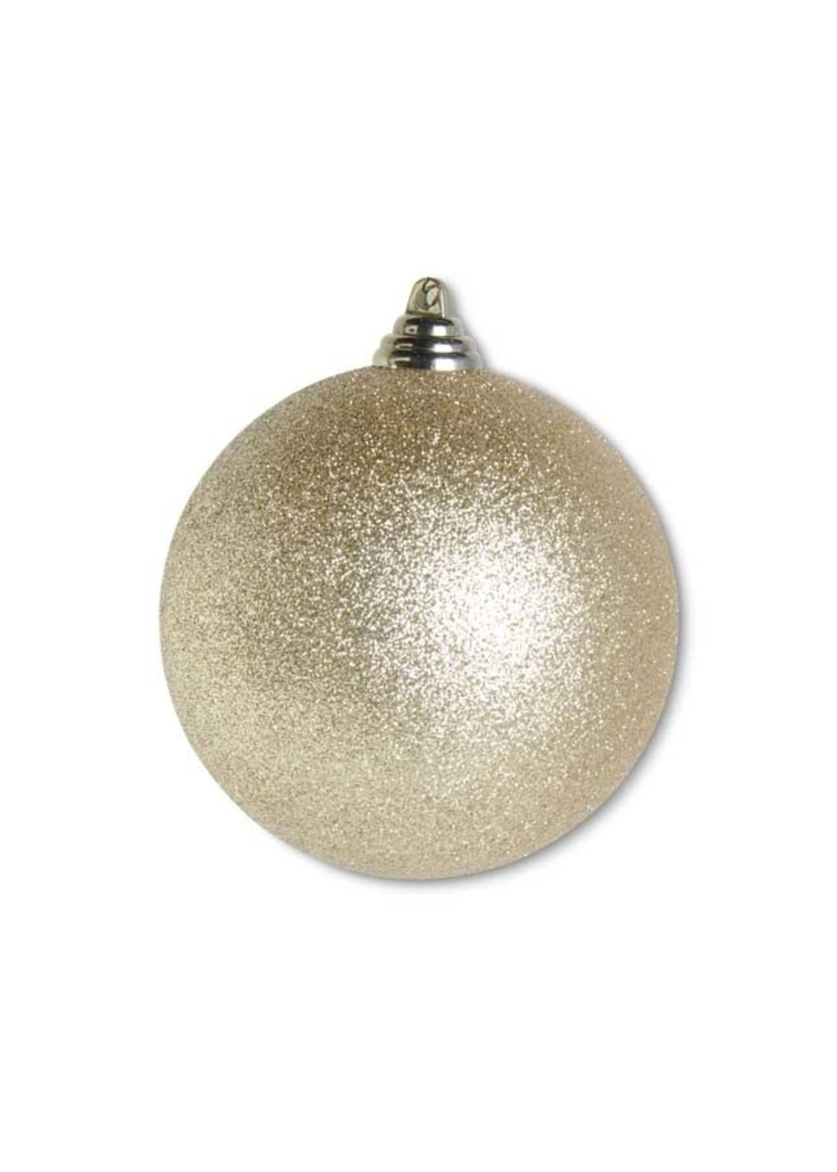 "K & K Interiors 4.5"" Gold Glittered Shatterproof Round Ornament"