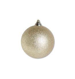 "K & K Interiors 4.5"" Gold Glittered Shatterproof Round Ornament"