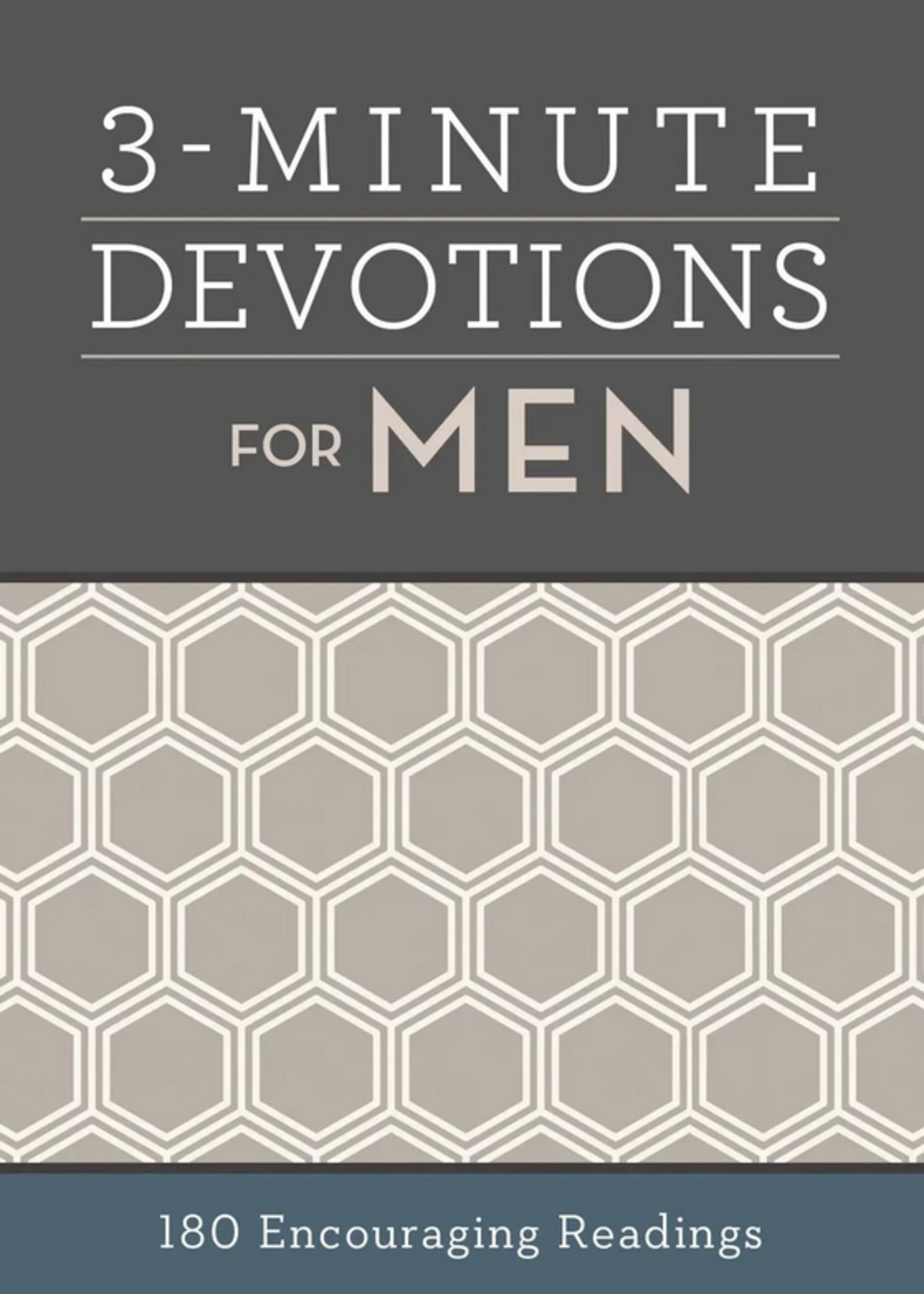 Barbour Publishing Inc. 3 Minute Devotions for Men