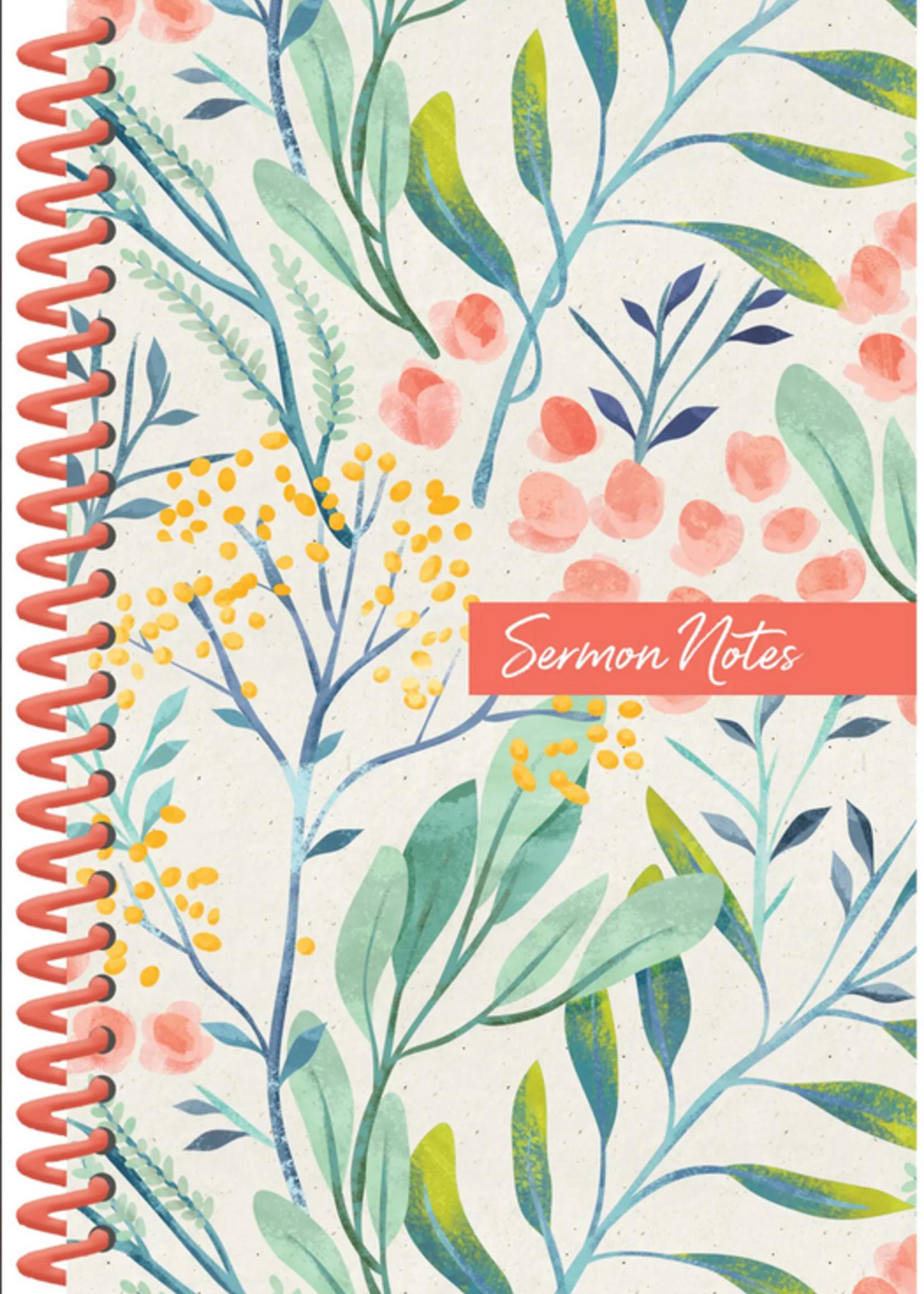 Barbour Publishing Inc. Sermon Notes Journal Floral