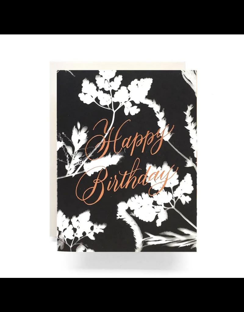 Antiquaria Sunprint Birthday Greeting Card