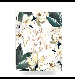 Antiquaria Magnolia Mr. & Mrs. Greeting Card