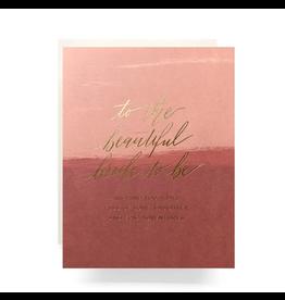 Antiquaria Blush Bride To Be Greeting Card