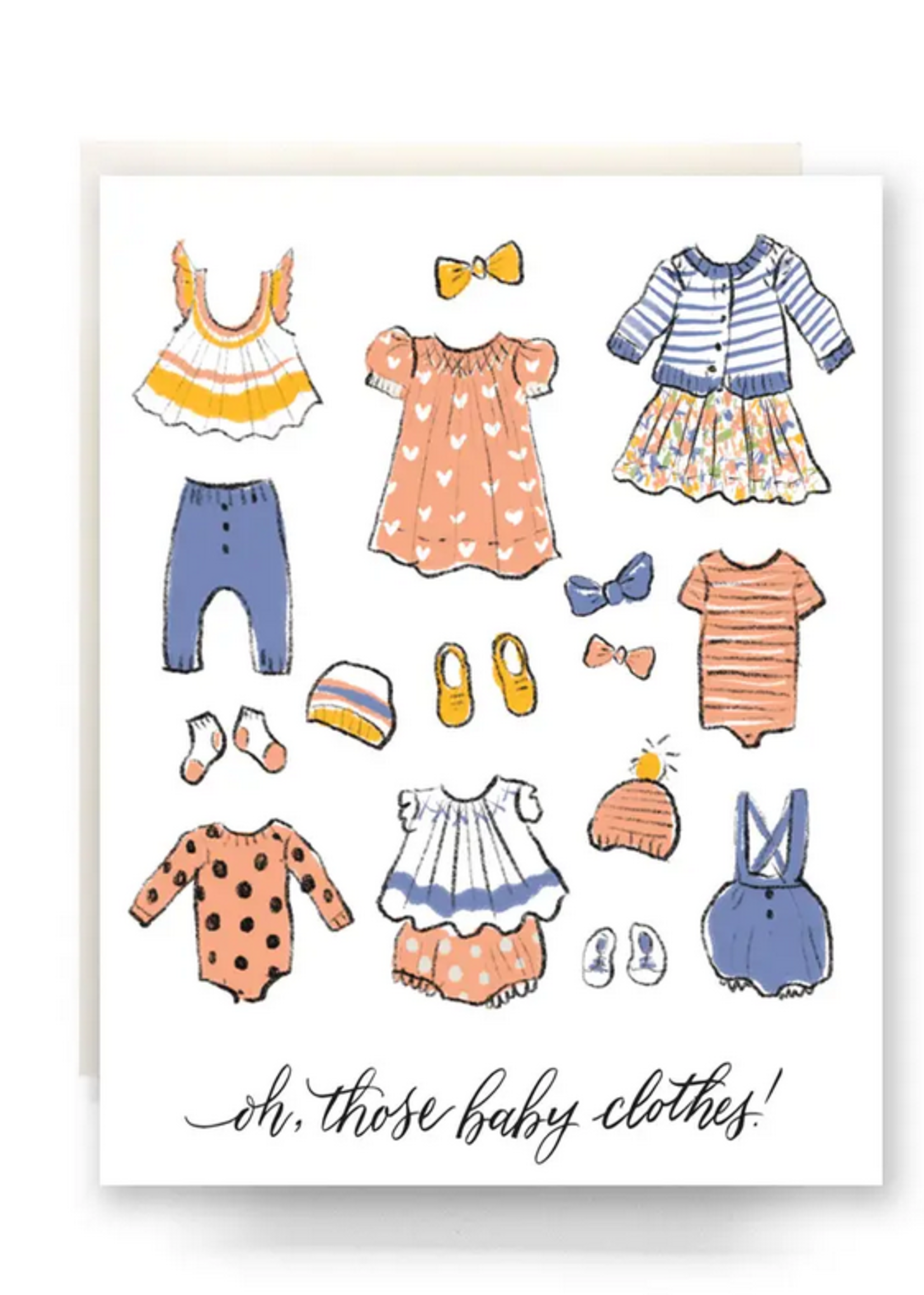 Antiquaria Oh Those Baby Clothes Card